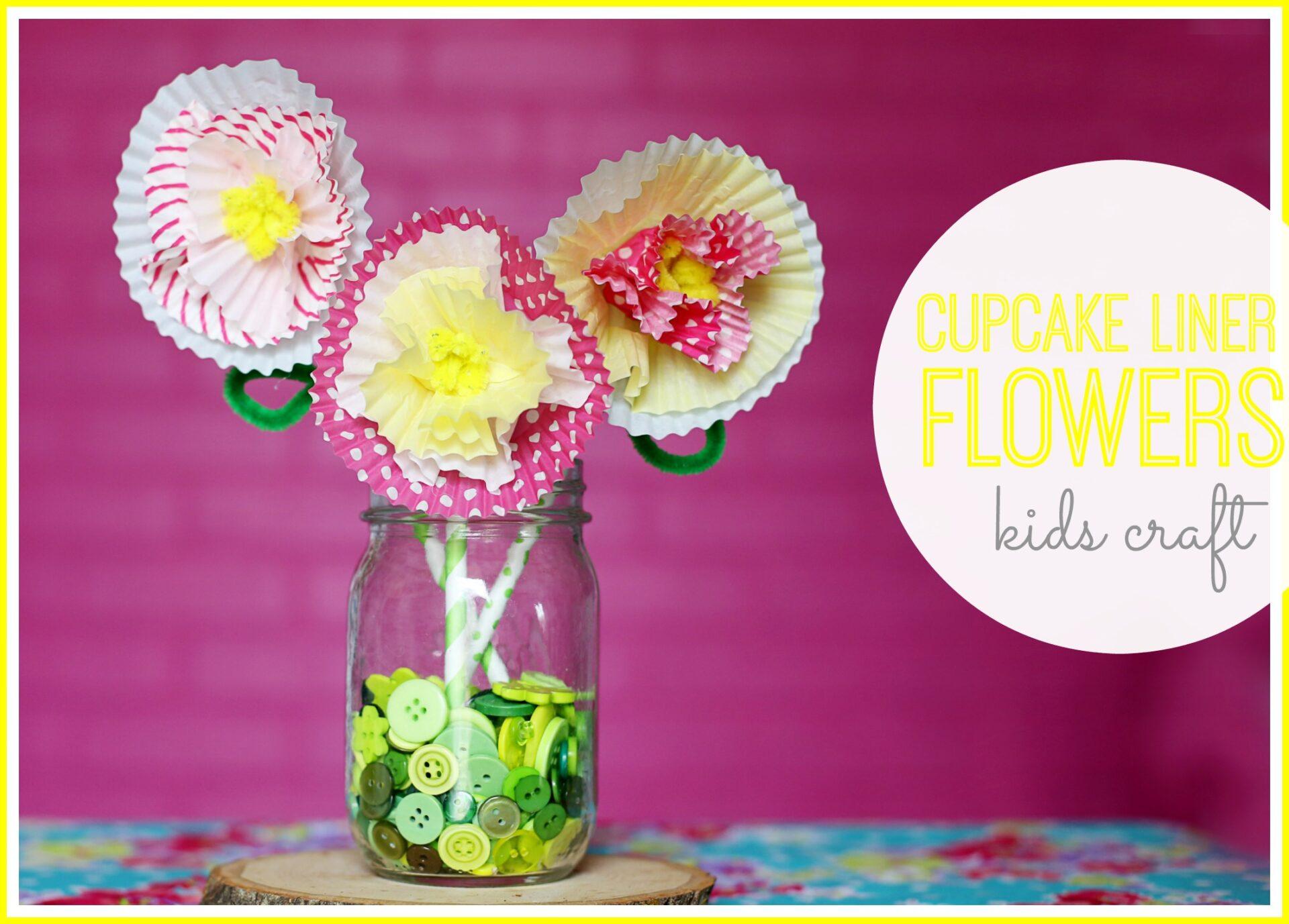 Cupcake liners flowers 2 minute diy youtube.