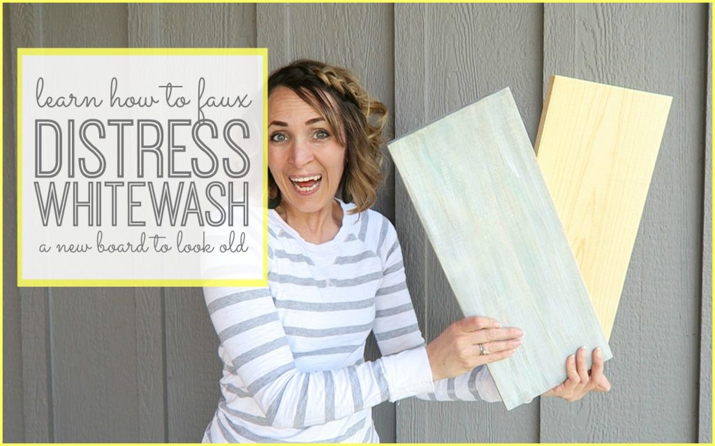 faux Distress Whitewash Board