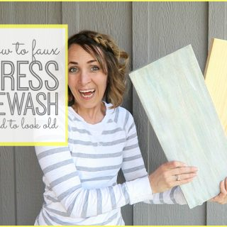 Distress whitewash a board tutorial