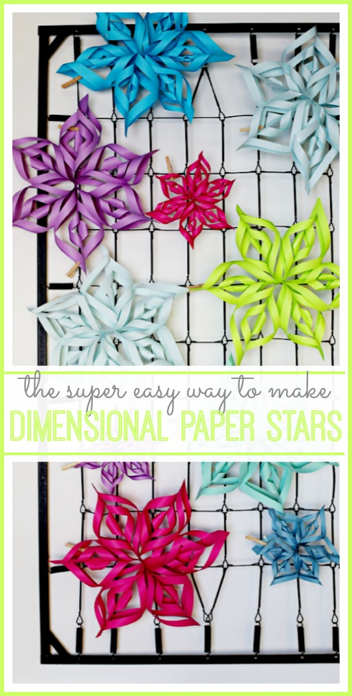 easy dimensional paper stars