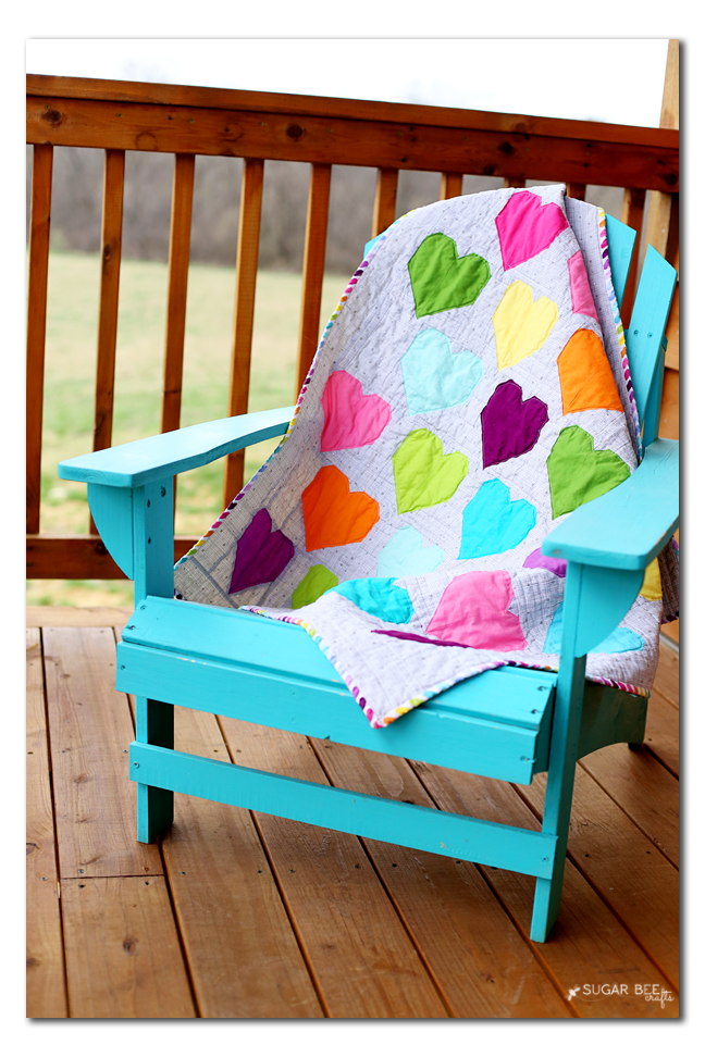 heart quilt chair