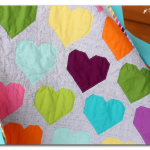 Colorful Modern Heart Quilt