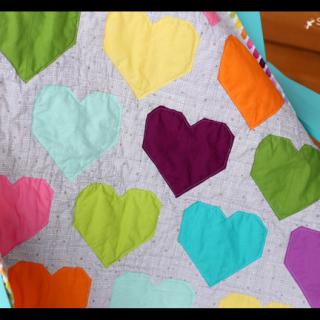 heart quilt details