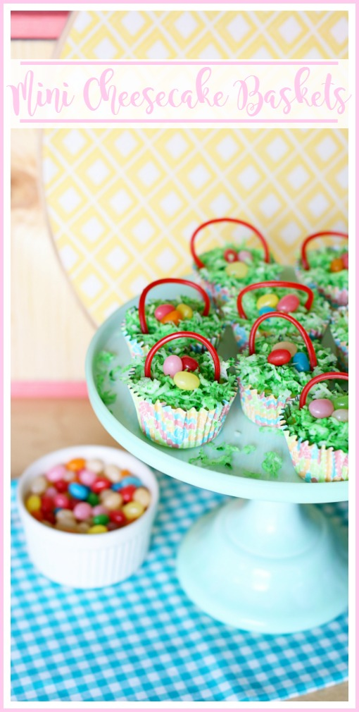 mini cheesecake baskets easter treat