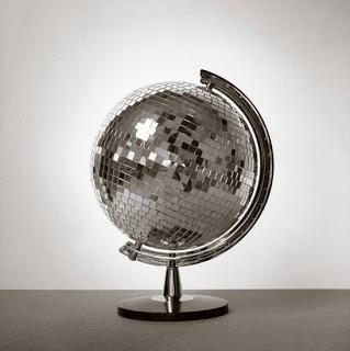 mirror ball globe