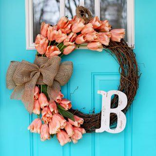 Tulip wreath ig