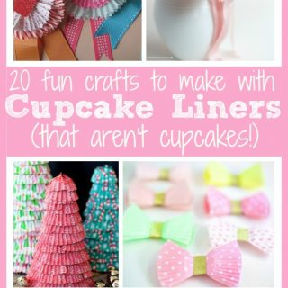 cupcake liner craft collage