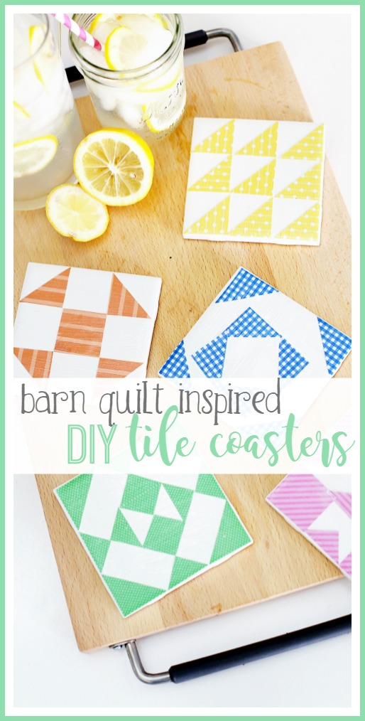 diy tile coasters barn quilt craft