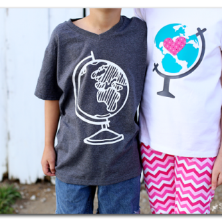 earth day globe tee vinyl diy