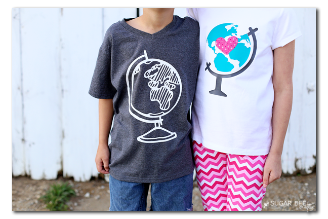 earth day globe tee vinyl diy
