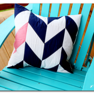 Herringbone quilted pillow hst