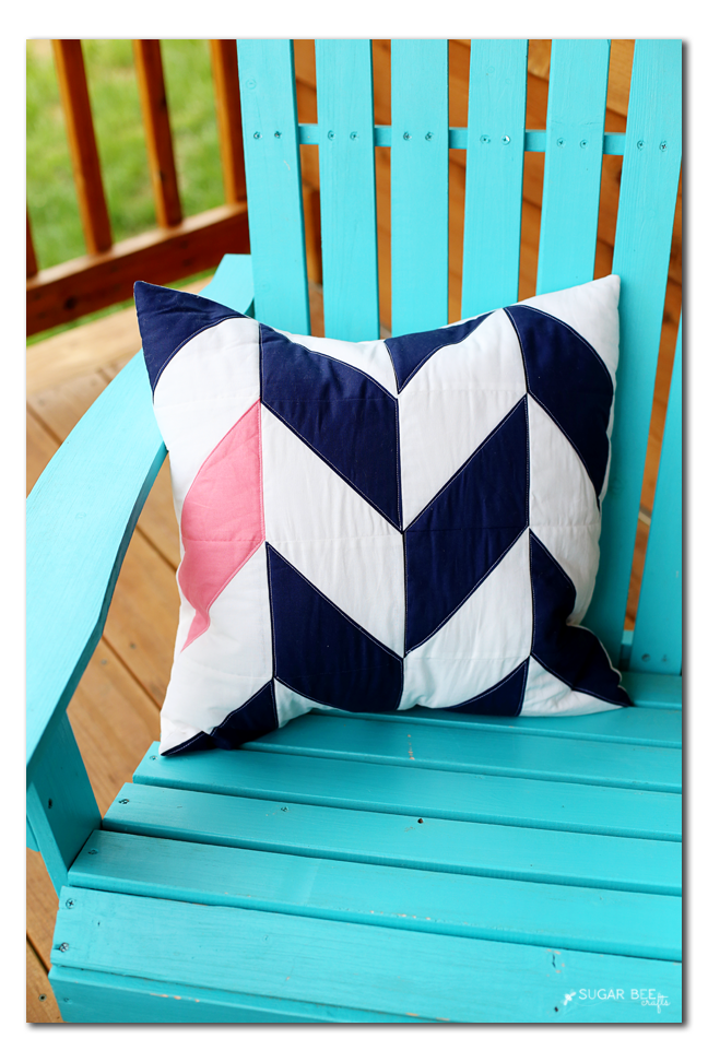 hst pillow idea herringbone