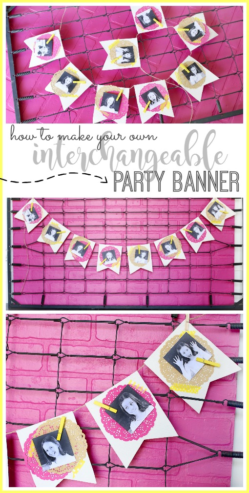 interchangeable party banner