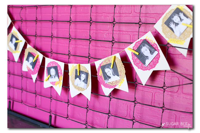 make your own photo banner birthday party decor