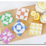 DIY Tile Coasters, Barn Quilt Inspired