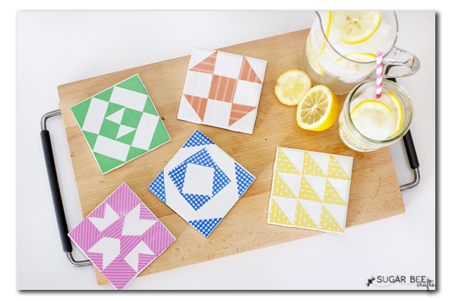 make your own quilt coasters