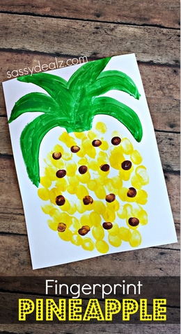 pineapple-fingerprint-craft-for-kids-