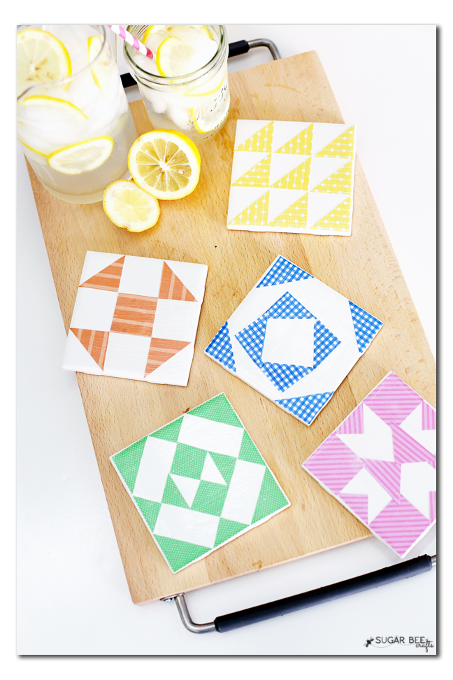 quilt tile coaster diy you can make yourself kids craft