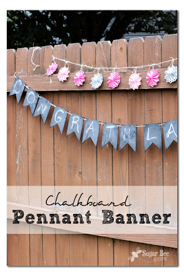reusable chalkboard pennant banner