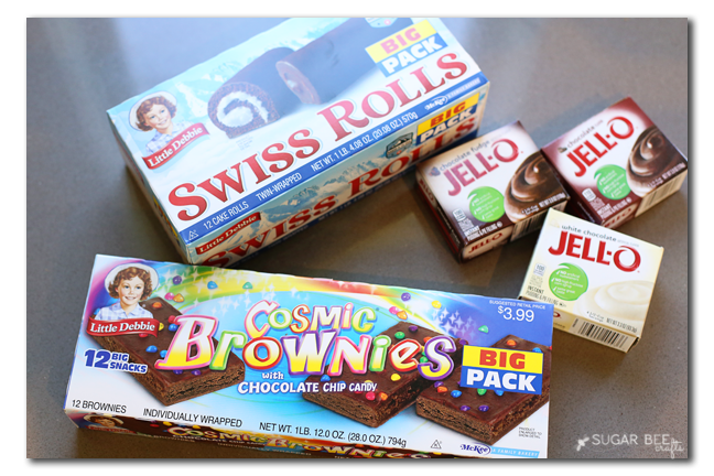 swiss roll cosmic brownie trifle dessert recipe