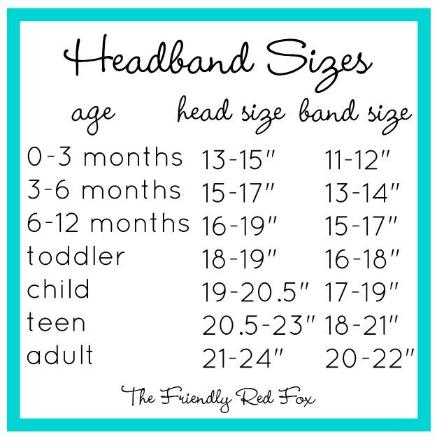 Headband sizes