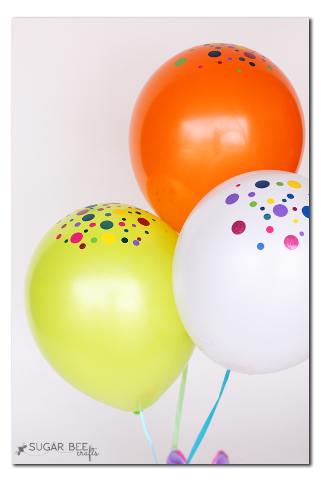 balloons with vinyl confetti