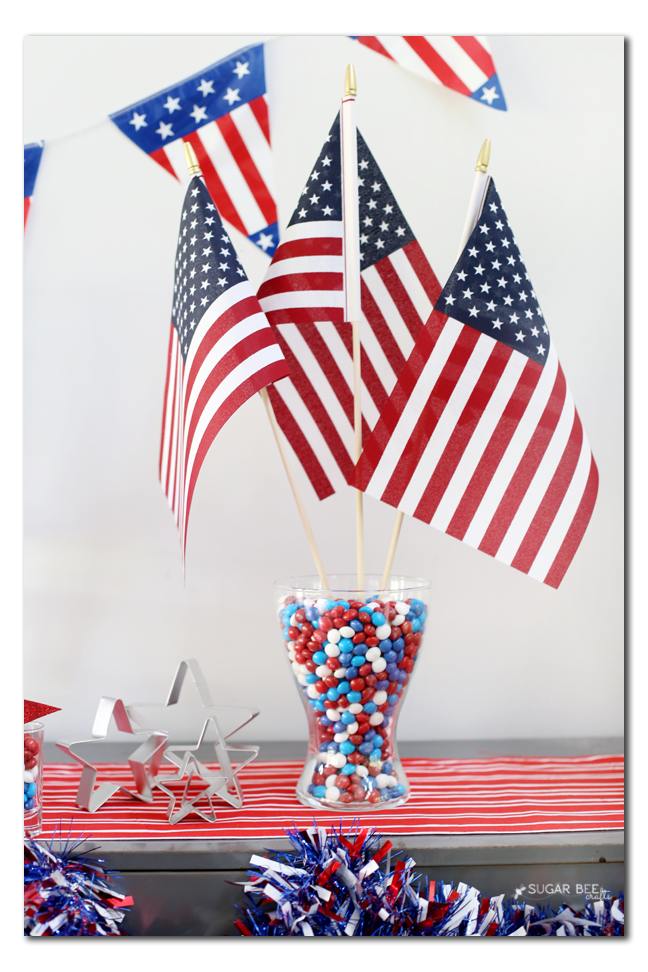 candy vase centerpiece party idea
