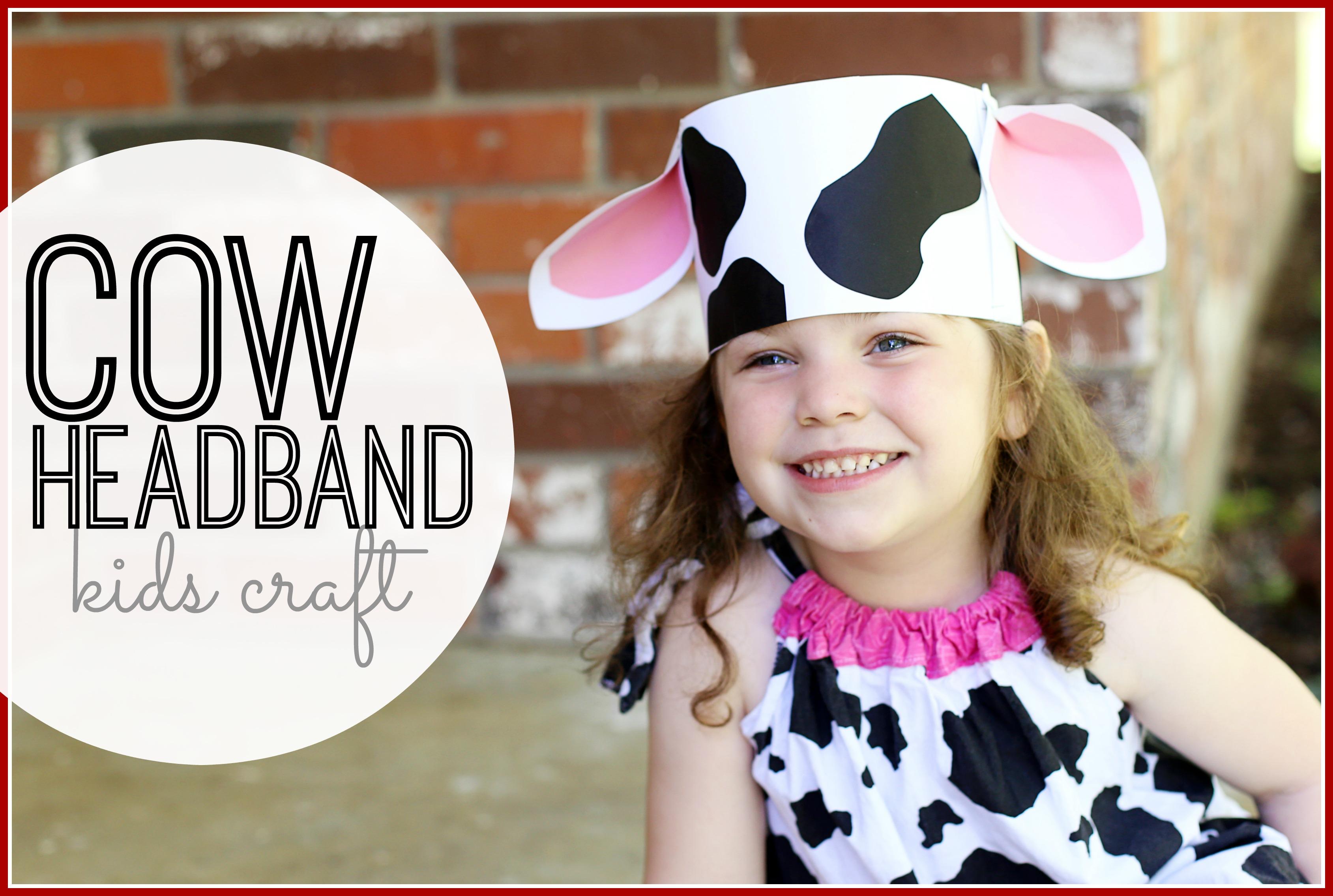 diy cow headband sugar bee crafts