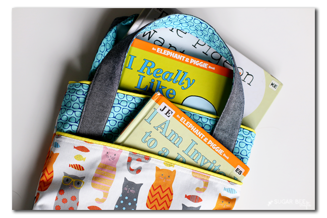diy book bag library tote free