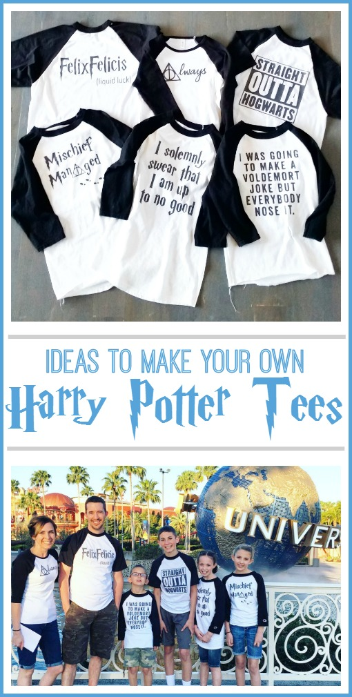 diy make your own Harry Potter tees tshirt