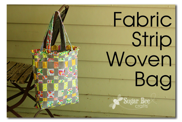 fabric strip woven bag