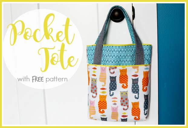 free pattern pocket tote bag