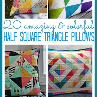 Half square triangle pillows