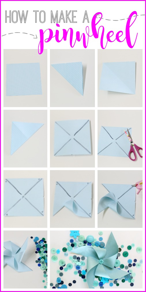 how to make a paper pinwheel
