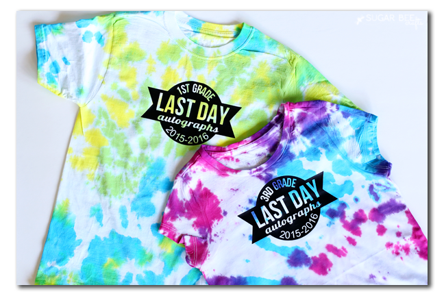 last day of school tshirt diy idea autographs