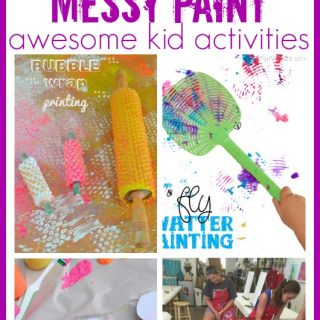 Messy paint kid craft activities