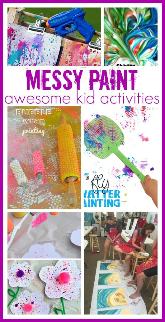 Messy Paint Kid Activities Sugar Bee Crafts