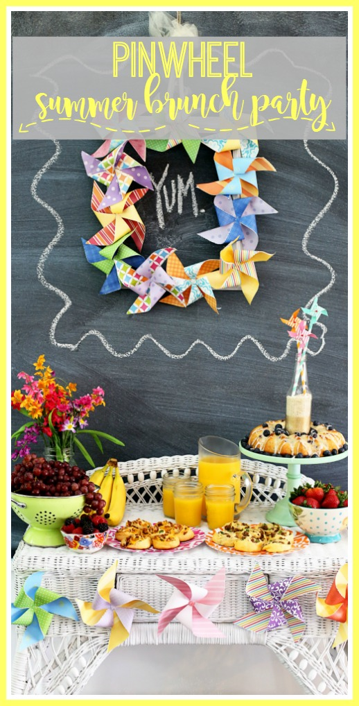 pinwheel summer brunch party