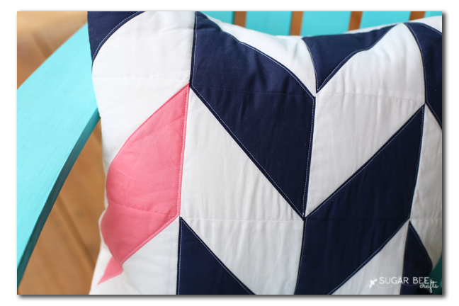 quilted beginner pillow herringbone pattern idea