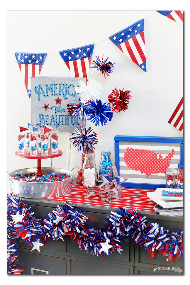summer party tablescape candy idea