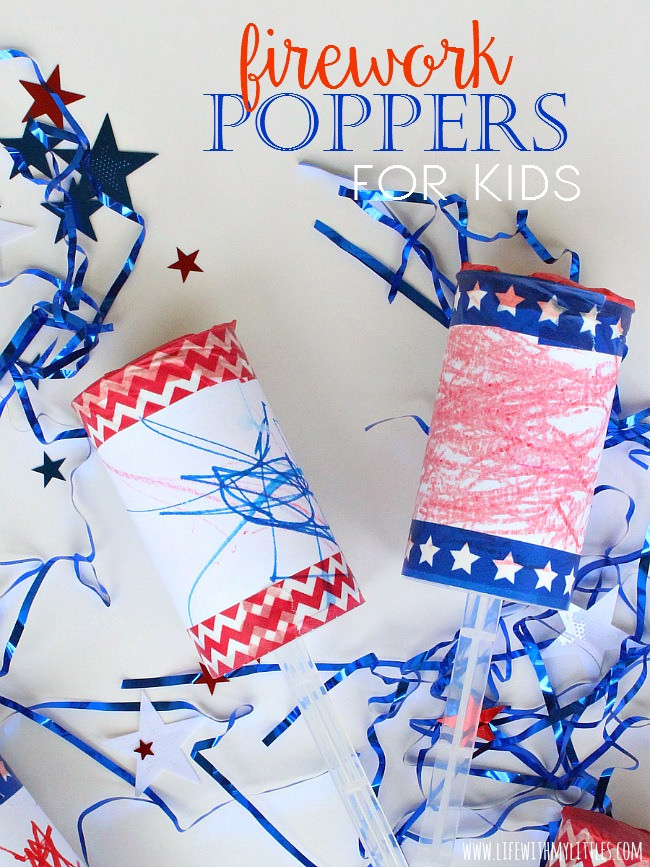 Firework Poppers For Kids Sugar Bee Crafts