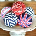 Red White Blue Vase Filler Balls