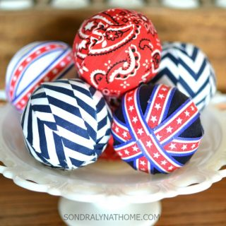 Red white blue filler balls in milkglass bowl 650x650 sondralynathome com