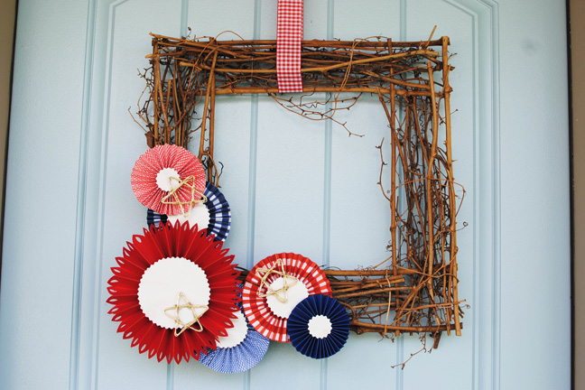Red White and Blue WREATH