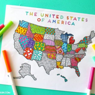 Colorful united states printables 900x600