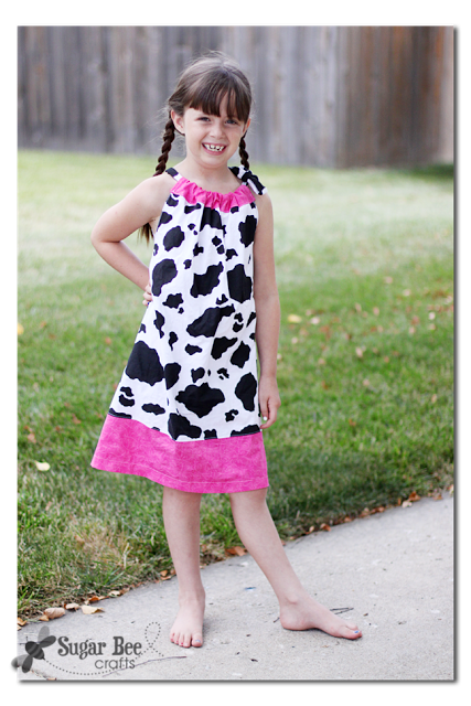 easy cow costume pillowcase dress