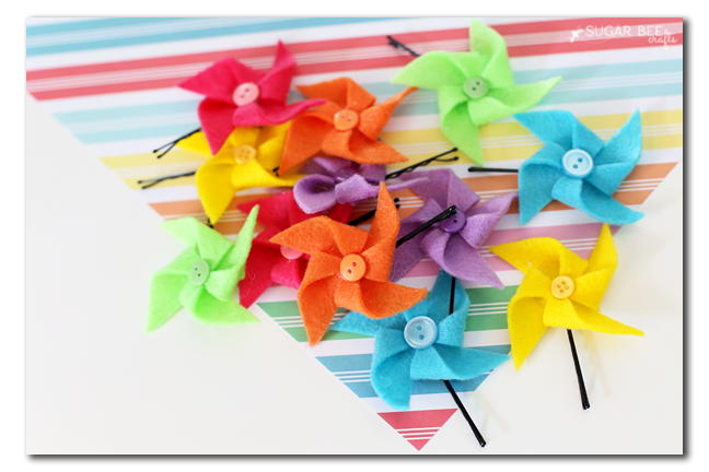 felt hairbow pinwheel how to make