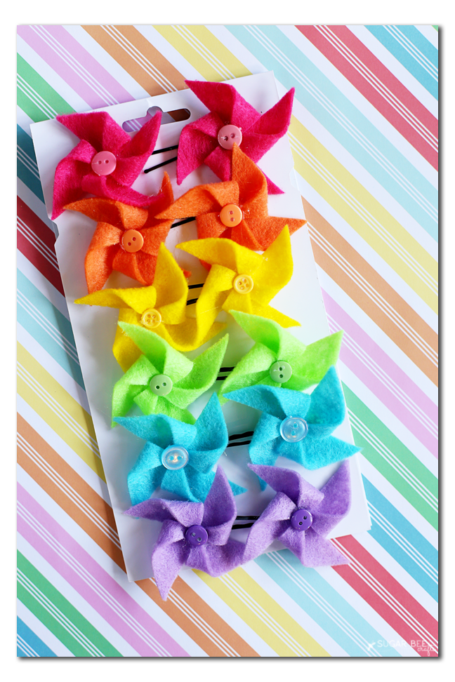 felt pinwheel bow how to
