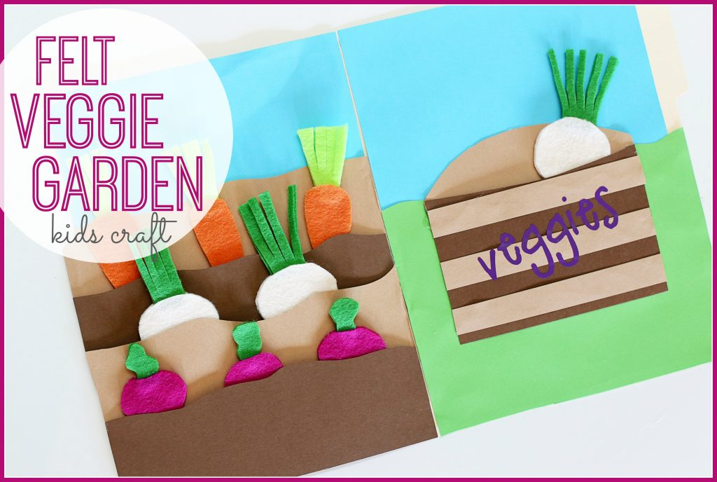 Felt Veggie Garden (File Folder Activity)