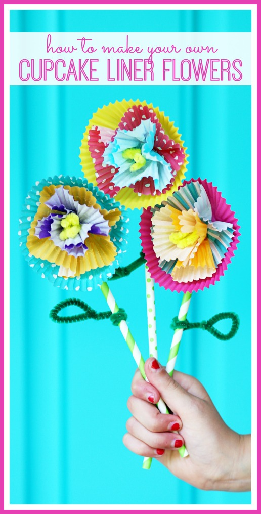 how to make cupcake liner flowers kids craft idea